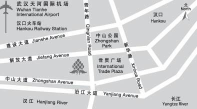 New World Hotel Wuhan Map