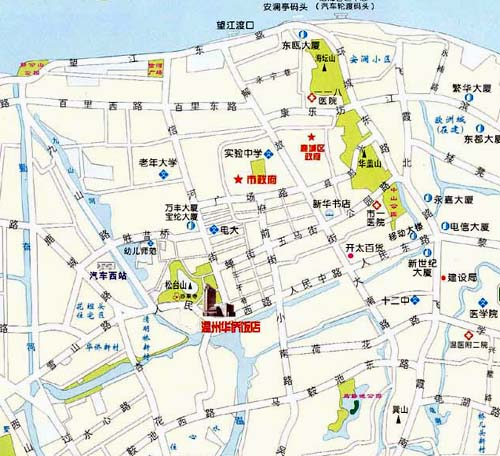 Overseas Chinese Hotel Wenzhou Map