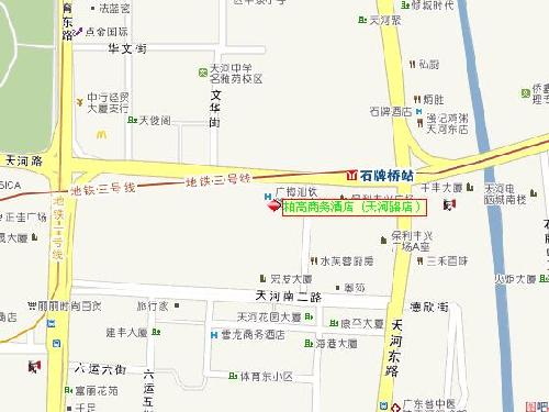 Paco Business Hotel Tianhe Branch ,Guangzhou Map