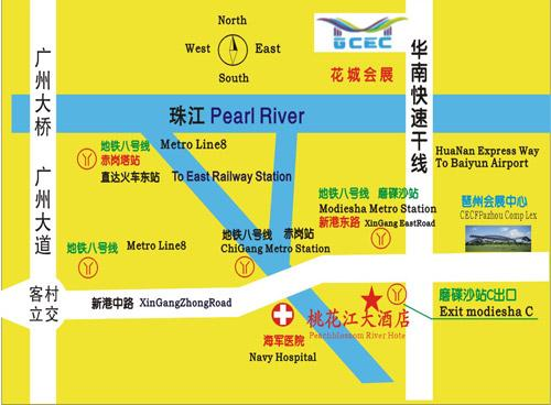 Wellgold Hotel Guangzhou  Pazhou Branch Map