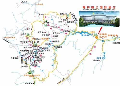 Zhangjiajie Qinghe Jinjiang International Hotel Map