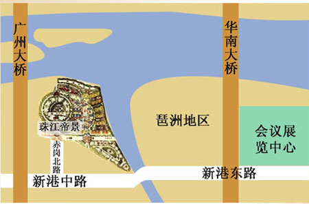 Regal Riviera Hotel Guangzhou Map