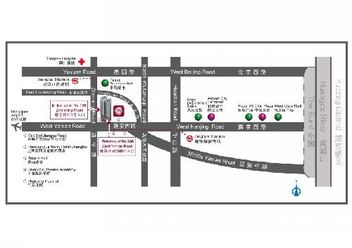 Rendezvous Merry Hotel Shanghai Map
