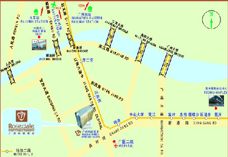 Rosedale Hotel & Suites Guangzhou (Plaza Canton Hotel) Map