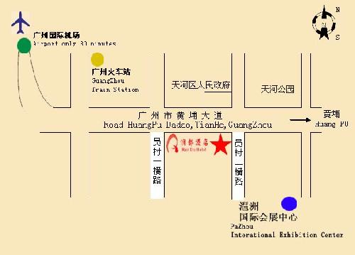 Starway Rundu Hotel Guangzhou Map