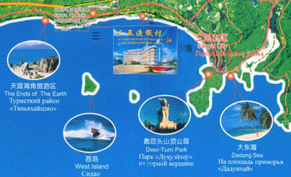 Sanya Holiday Resort Map
