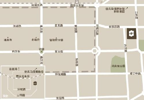 Shangri-La Golden Flower Hotel, XiAn Map