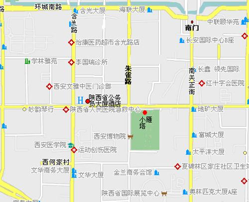 Shaanxi Public Servant Training Center (Xi'an) Map