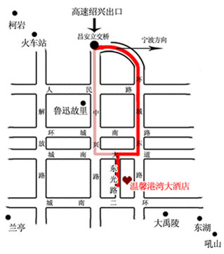 Shaoxing Warm Port Hotel Map