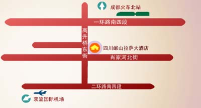 Sichuan Minshan Lasa Grand Hotel Map