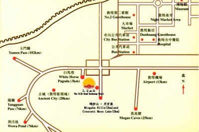 Silk Road Dunhuang Hotel Map
