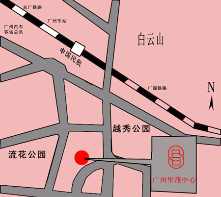 Sino Trade Center, Guangzhou Map