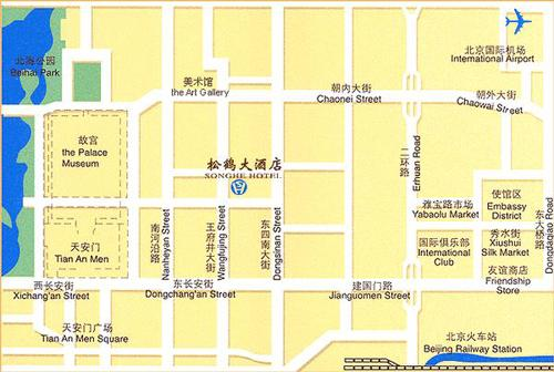 Sunworld Hotel Beijing Map