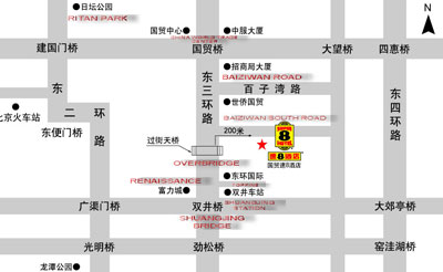Super 8 Hotel Beijing Guo Mao Map
