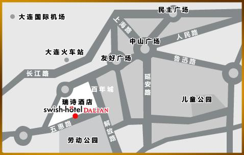 Swish Hotel Dalian Map