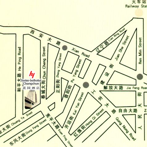 Swiss-Bel Hotel ,Changchun Map