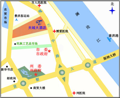 The Sky City Hotel Of Xishuang Banna Map