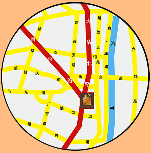 Tian Jin Golden Crown Hotel Map