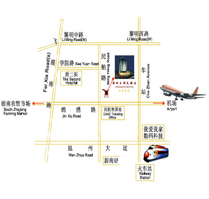 Wenzhou Dynasty Hotel Map