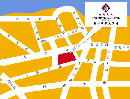 Wenzhou International Hotel Map