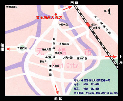 Wuxi Gold Coast Hotel Map