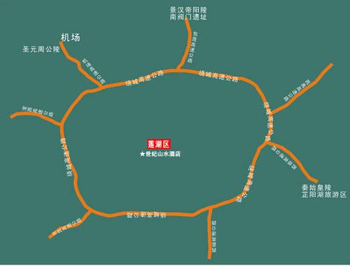 Xia'an century Landscape Hotel Map