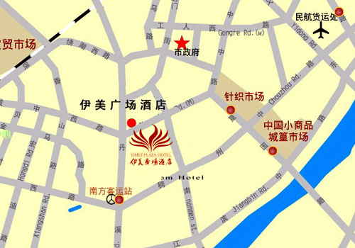 YiMei Plaza Hotel, Yiwu Map