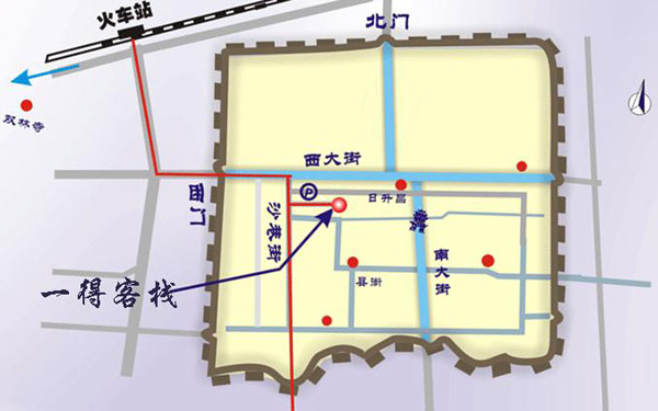 Yide Hotel Pingyao Map