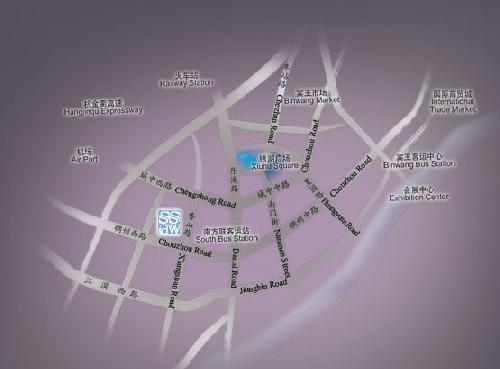 Yiwu Ssaw Hotel-City in city Map