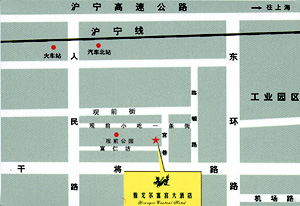 Youngor Central Hotel ,Suzhou Map