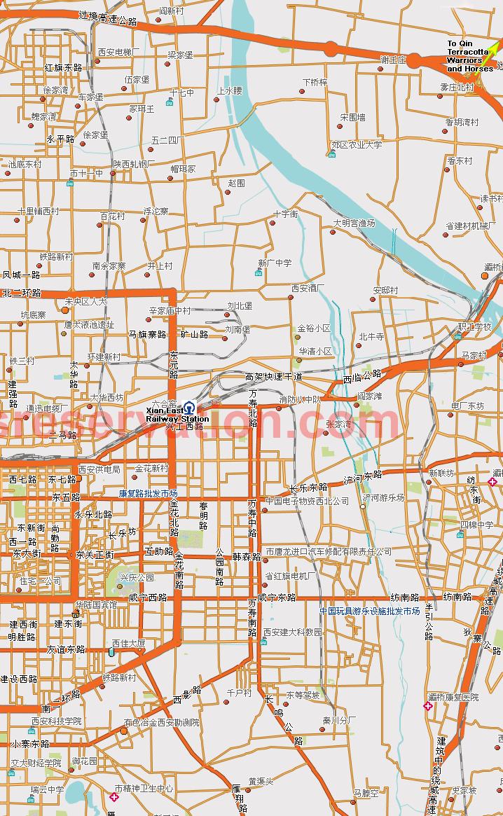 xian map  u0026 hotels